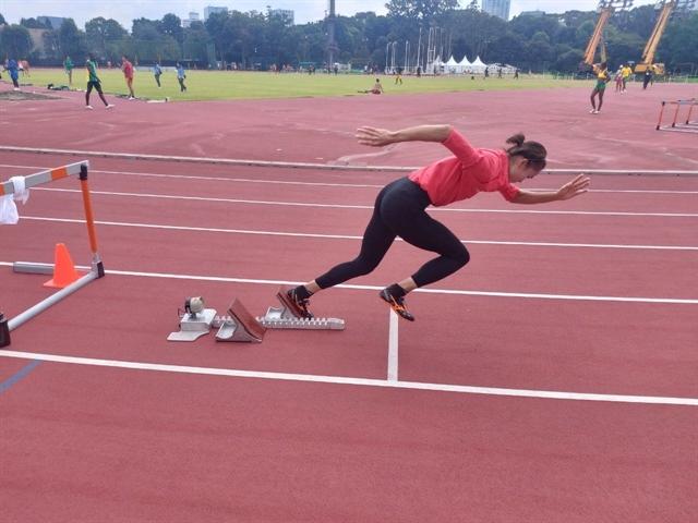 Last Việt Nam athlete Lan prepares forhurdles