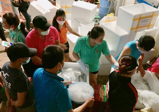 Fish sent from coastalprovince as gifts to virus-hit HCM City