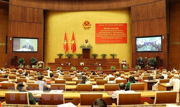 Speech of Party leader Nguyễn Phú Trọng at conference reviewing 12th Politburos Directive 05