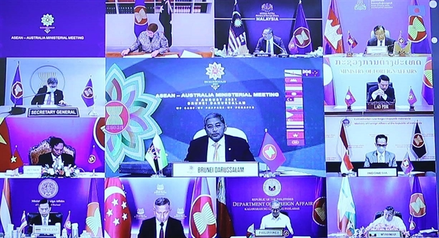 ASEAN Australian foreign ministers meet with pandemic and South China Sea in mind