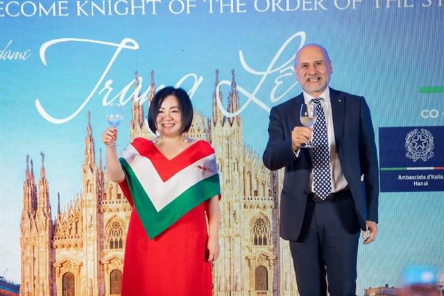 VIFW chairwoman named Italian cuisine ambassador in VN