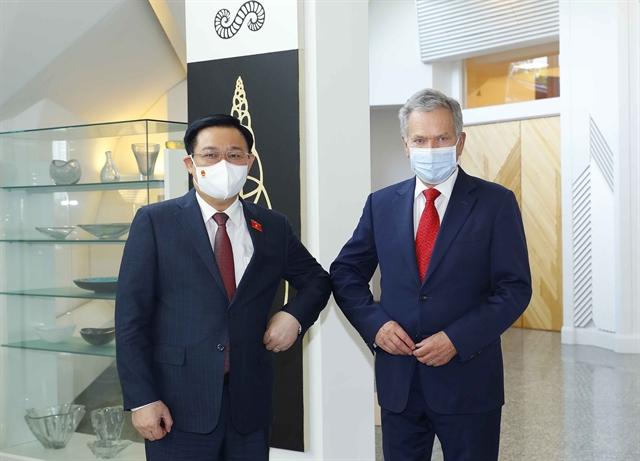 Top legislator promotes bilateral ties in meetings with Finnish President parliament speaker