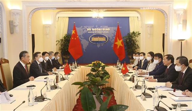 Foreign ministers talk measures for strengthening Việt Nam- China ties