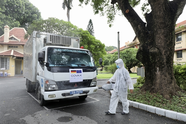 850000 AstraZeneca vaccine doses donated from Germany arrive in Việt Nam