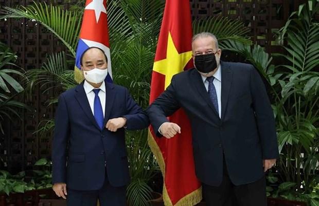 President Nguyễn Xuân Phúc meets Cuban Prime Minister