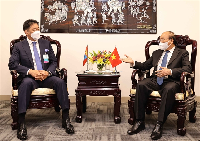 President holds bilateral meetings with Mongolian European leaders in New York