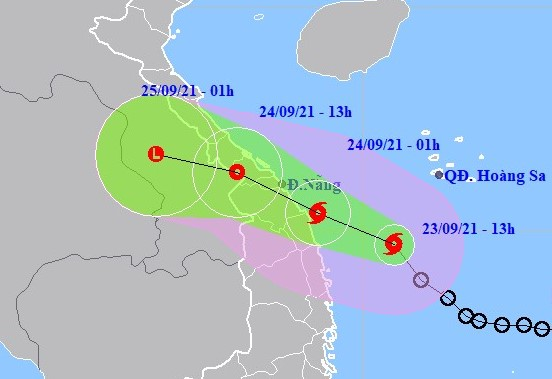 Storm expected to cause heavy rainfall in the central Việt Nam