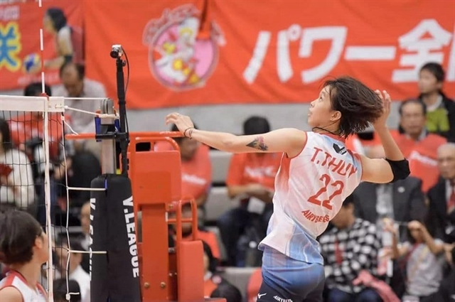 Spiker Thúy sharpens her skills in Japanto better national volleyball