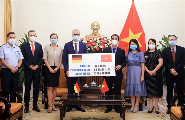 Germany donates a further 2.6 million doses of AstraZeneca to Việt Nam