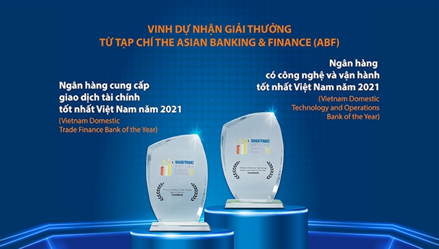 Sacombank wins 2 awards from The Asian Banking and Finance