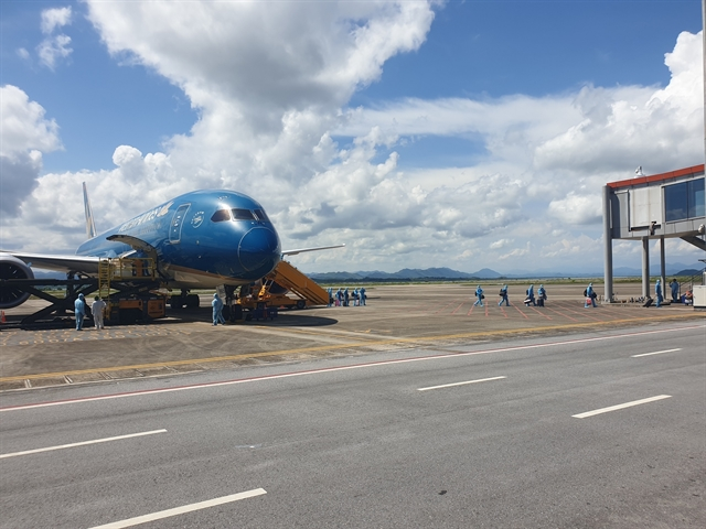 First COVID-19 vaccine passport flight with seven-day quarantine policy lands at Vân Đồn International Airport