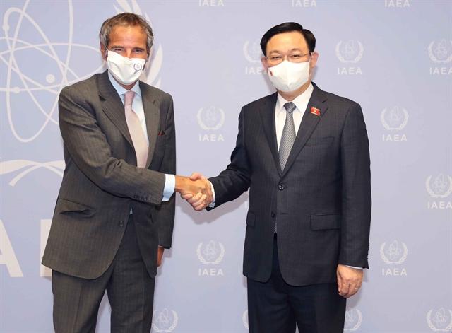Top Vietnamese legislator meets with IAEA leader