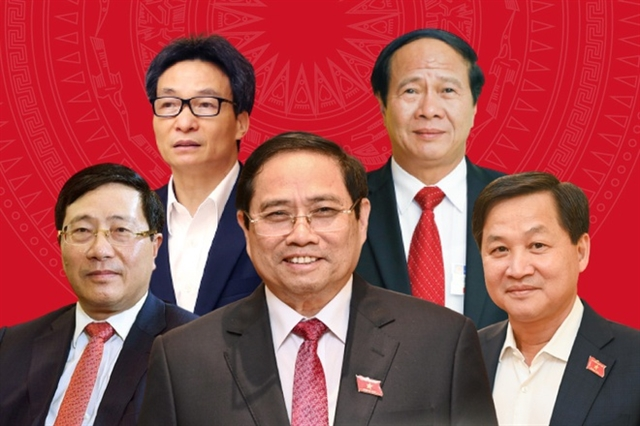 PM and four deputy PMs assigned responsibilities