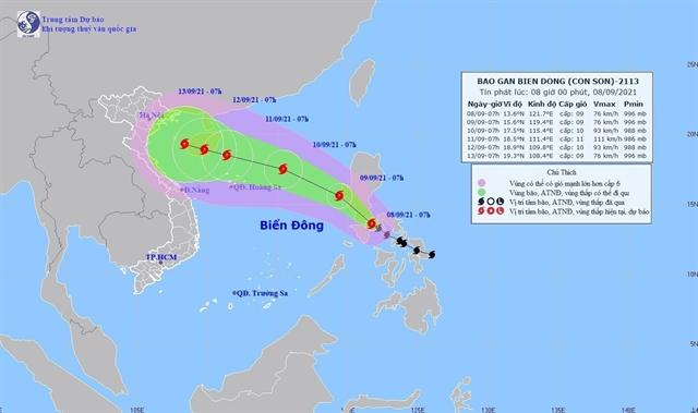 Typhoon Conson set to take complex path
