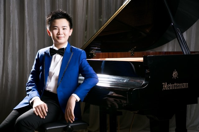 13 year-old Hong Kong piano prodigy returns to HCM City
