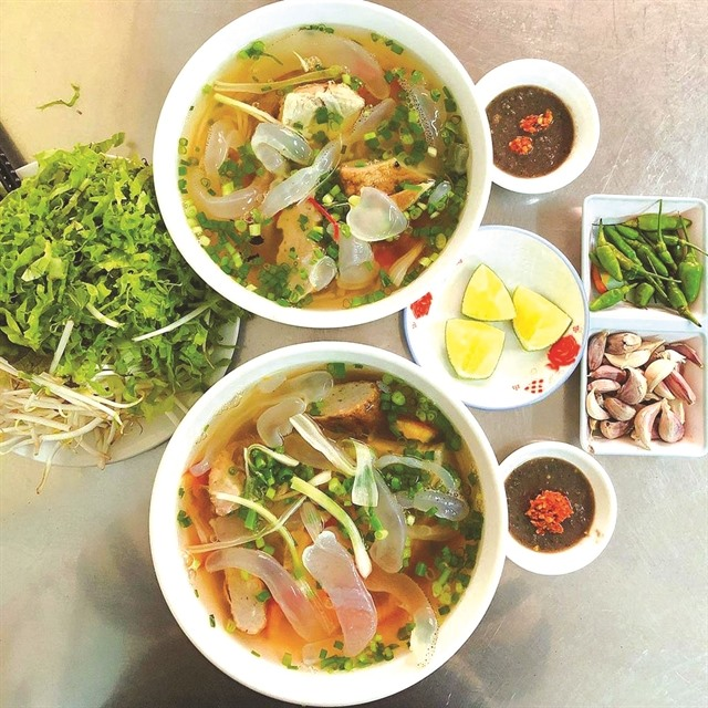Noodles with jellyfish – delicacy of the sea