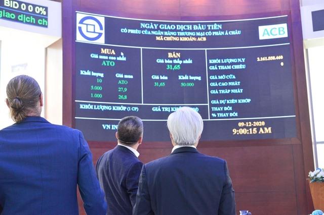 ACB shares debut on HoSE soaring 8.1%