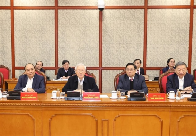 Party leader urged immediate implementation of 13th National Party Congress Resolution