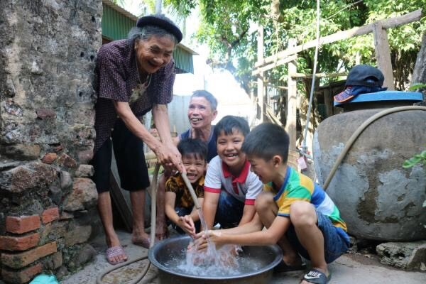 Villagers rejoice at having clean water