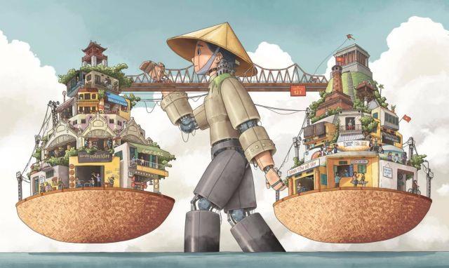 Hà Nội on a Vendors Yoke wins national art contest