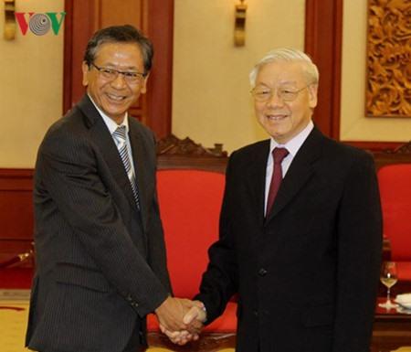 Party leader praises outgoing Japanese ambassador