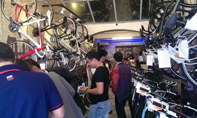 Intl bike brands arrive in VN