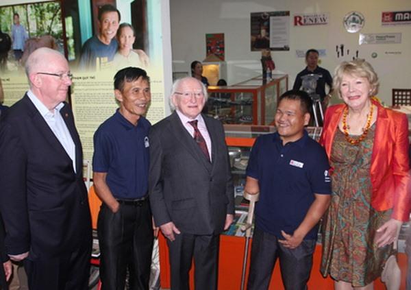 Irish President visits development projects