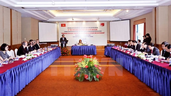 German VN officials discuss small businesses