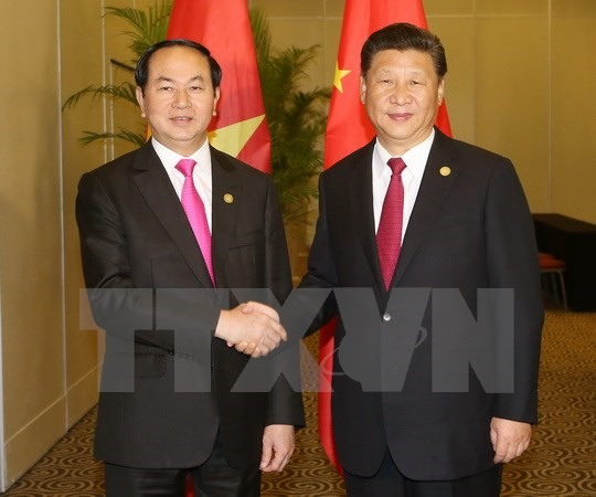 VN President meets Chinese other world leaders in Peru
