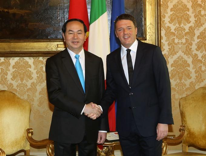 President affirms 6b Italian trade target