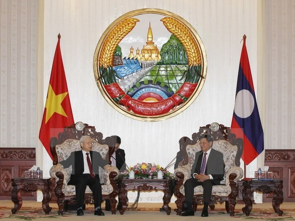 Party chief meets Lao Prime Minister