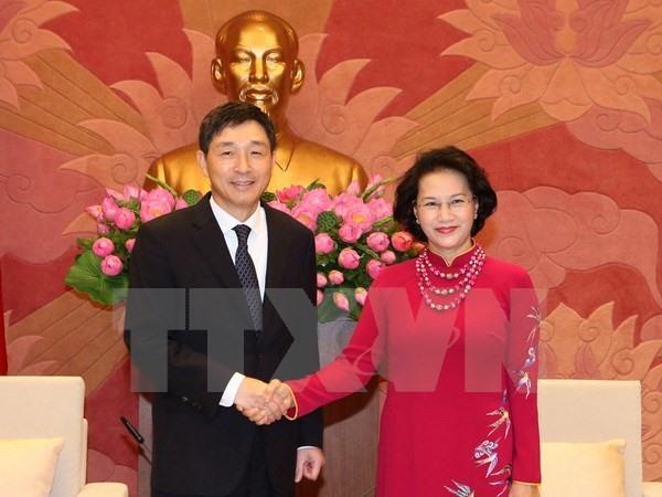 NA Chairwoman receives RoK and Iran Ambassadors