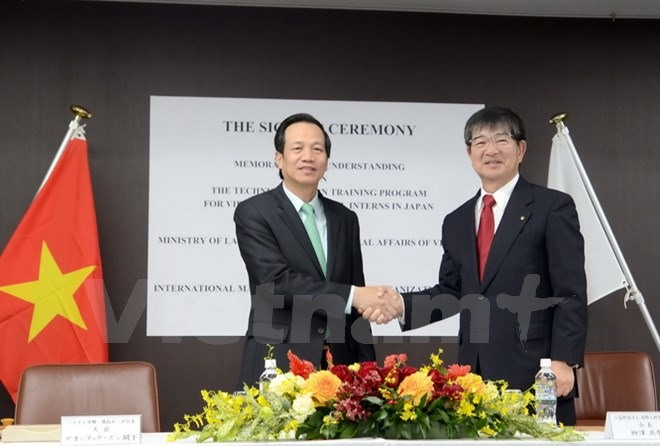 VN Japan ink labour training agreement