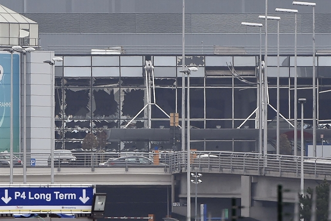 Explosions hit Brussels airport several killed: Belgian media