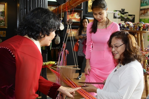 Craft village booths come to HCM City
