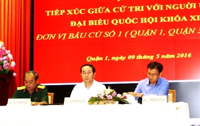 State President meets voters in southern HCMC