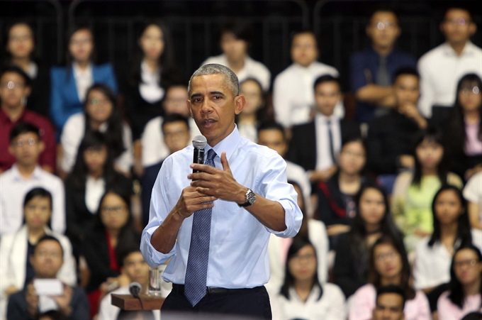 Young VNese future global leaders: Obama