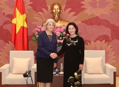 NA Chairwoman receives Danish Swedish ambassadors