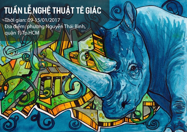 Graffiti calls for end to rhino horn use in Việt Nam