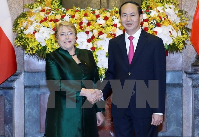 Vietnamese President receives Chilean counterpart