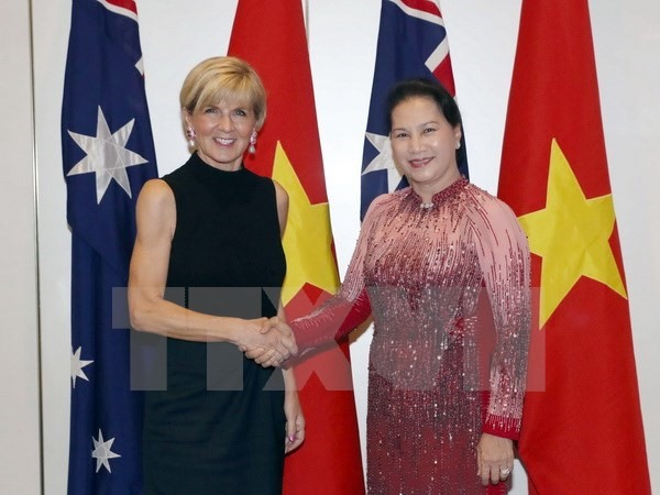 NA Chairwoman meets Australian Foreign Minister