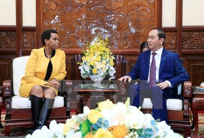 South African ambassador bids farewell to President