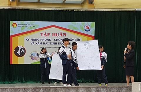 At festival children make art against sexual abuse
