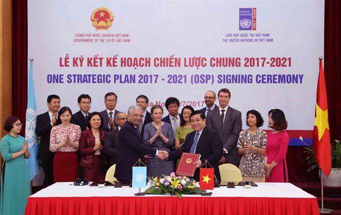 VN UN sign strategic 423m plan for 2017-21