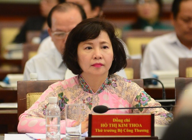 Hồ Thị Kim Thoa dismissed from position of deputy trade minister
