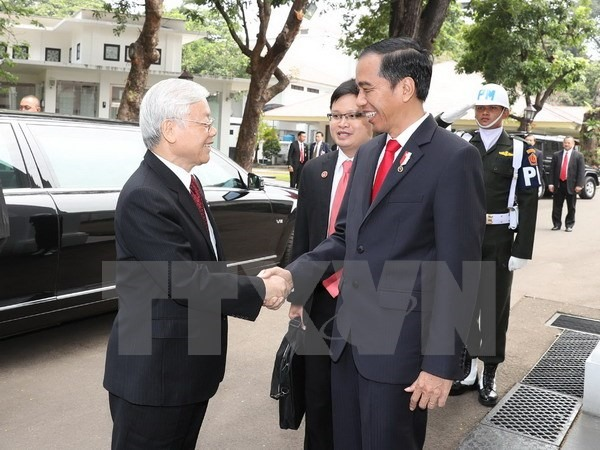 Party leader meets Indonesian President