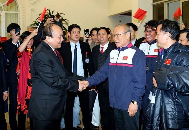 PM Nguyễn Xuân Phúc welcomes U23 Việt Nam
