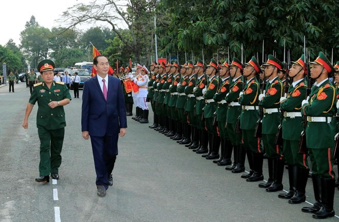 President pays pre-Tết visit to Army Corps 4
