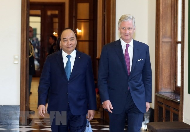 PM Phúc meets with Belgian King Philippe