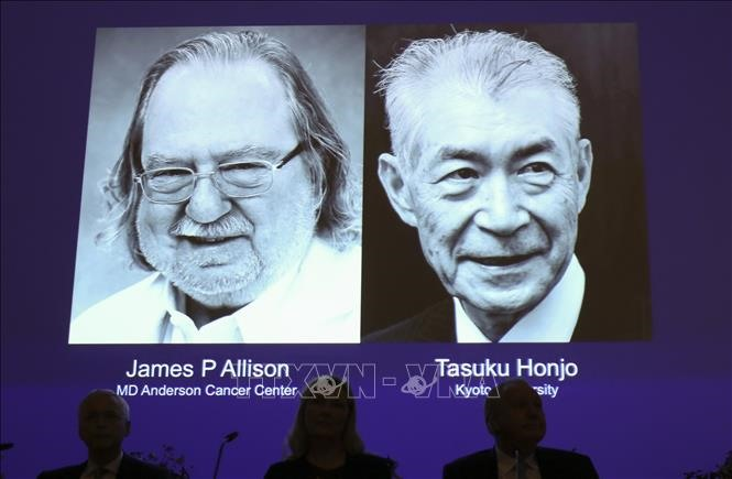 US Japan duo win Nobel Medicine Prize for cancer therapy